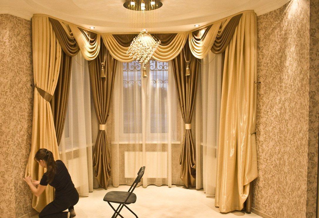 Фото шторы дизайн современный