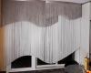 ассиметричные нитяные шторы