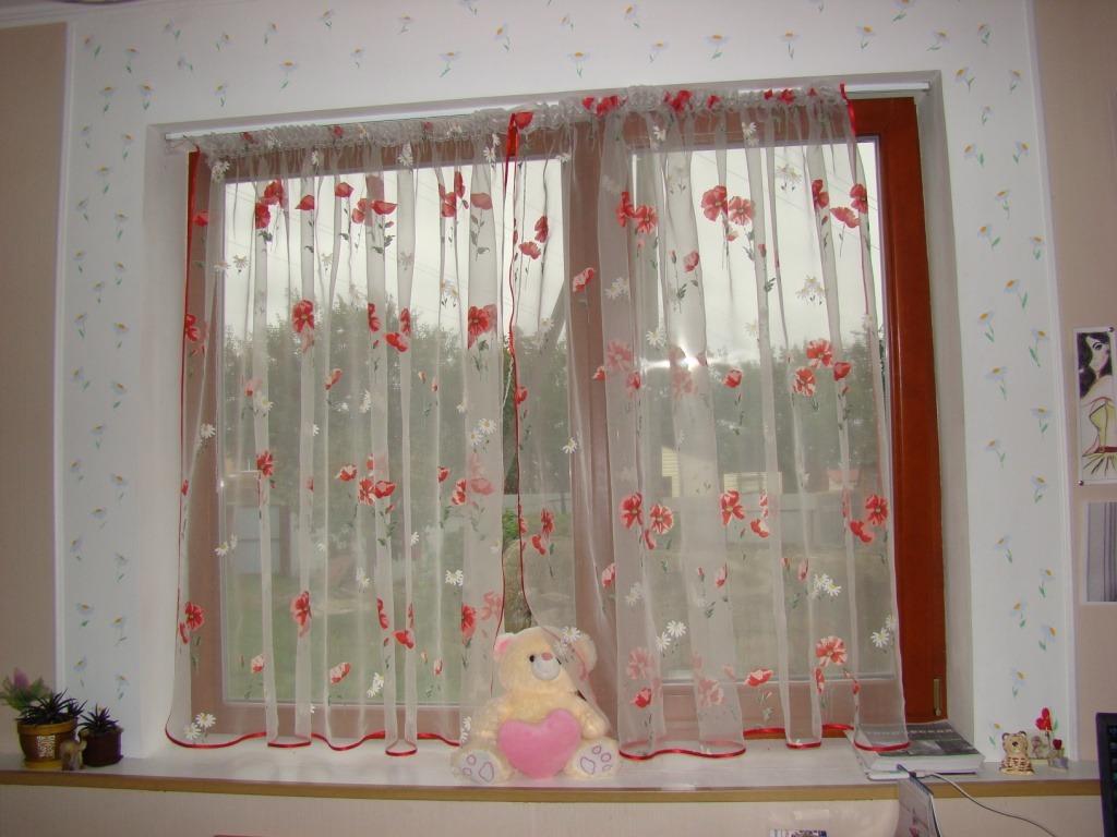 Тюль своими руками в комнату