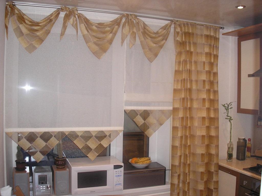 Фото ламбрекенов для кухни своими руками