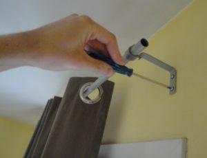 как повесить гардину на стену