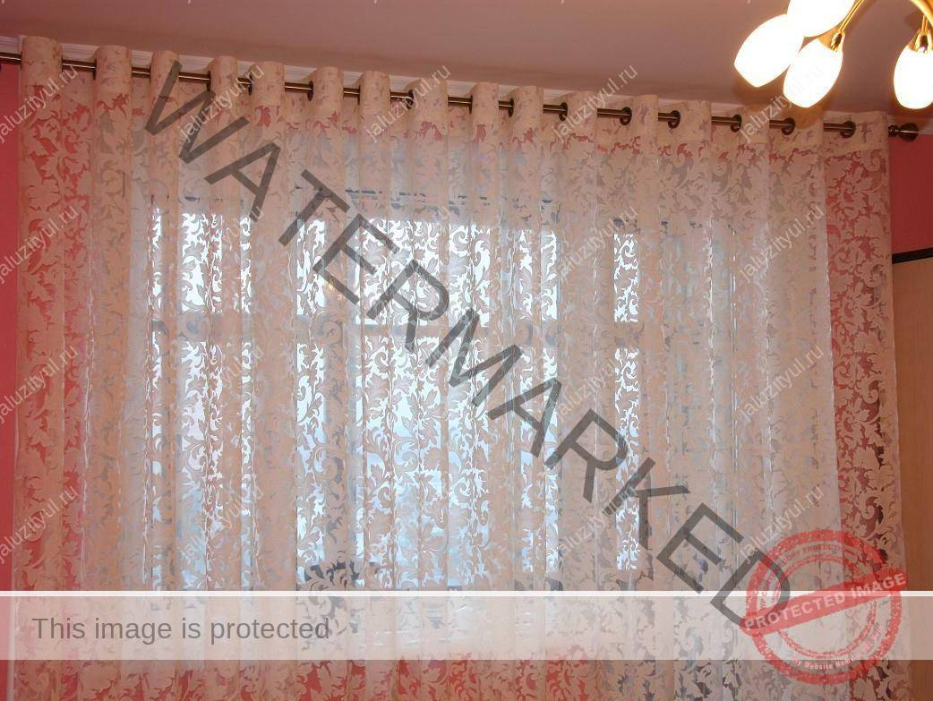 Тюли с вышивкой в зал