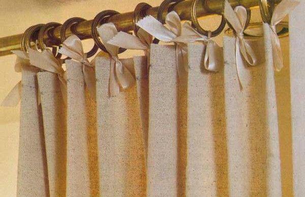 шторы на завязках