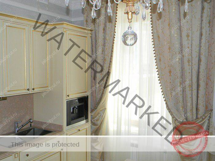 жаккардовые шторы на кухню