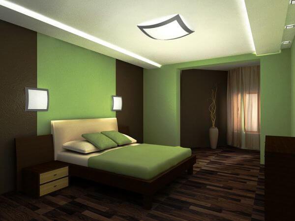 шторы и зелёные обои